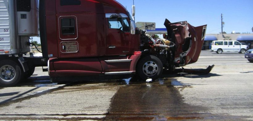Tomasa Cuevas big rig accident scene